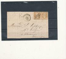 N°21  PAIRE SUR LETTRE. - 1862 Napoléon III
