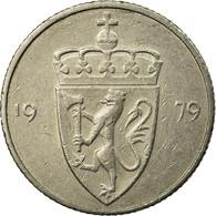 Monnaie, Norvège, Olav V, 50 Öre, 1979, TB+, Copper-nickel, KM:418 - Norvège