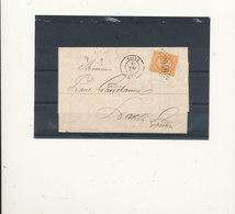 N°23  SUR LETTRE. - 1862 Napoléon III