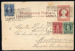 1900, Chile, U 1 A U.a., Brief - Chile