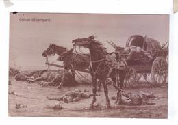 Guerre 14 Illustration Convoi Desempare Soldats Cheval Allemands Mort Galerie Patriotique Noyer - Guerre 1914-18