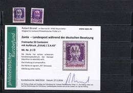 Zante: MiNr. 2II Und 2I, Gestempelt - Occupation 1938-45