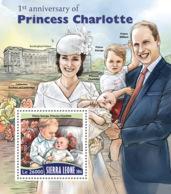 Sierra Leone 2016  Princess Charlotte; Catherine, Prince William, Prince George - Sierra Leone (1961-...)