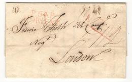 14884 - P54P LORIENT En Rouge Pour LONDON - Marcophilie (Lettres)