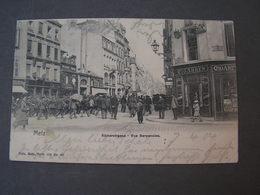Metz , Alte Karte 1904  Not Perfect Rue Serpenoise - Metz