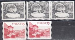 Schweden 1975 - Natur Und Kunst, Mi-Nr. 923yA, 923yDl/Dr, 924xA, 924yA, MNH** - Suède