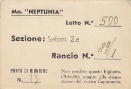 """9290-MN. """"NEPTUNIA""""-BIGLIETTO RANCIO - Vecchi Documenti"""