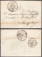 BELGIQUE LETTRE DATEE BRUXELLES 04/01/1839 DES AFFAIRES ETRANGERES VERS LE CONSUL DE BELGIQUE (DD) DC-2291 - 1830-1849 (Belgique Indépendante)