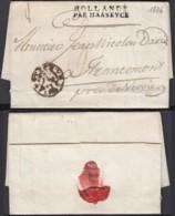 "BELGIQUE LETTRE AMSTERDAM 31/01/1806 GRIFFE ""HOLLANDE PAR MAASEYCK"" VERS FRANCOMONT TAXE (DD) DC-2292 - 1794-1814 (French Period)"
