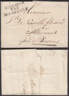 "BELGIQUE LETTRE AMSTERDAM 21/02/1809 GRIFFE ""HOLLANDE PAR MAASEYCK"" VERS HODIMONT TAXE (DD) DC-2293 - 1794-1814 (French Period)"