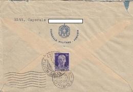 "9291-BUSTA INTESTATA ""OSPEDALE MILITARE-PERUGIA""-1935 - Marcophilia"