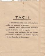 9293-MOTTO PROPAGANDISTICO DEL 1944 SU BUSTA PAGA - Vecchi Documenti