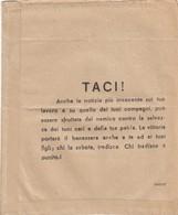 9294-MOTTO PROPAGANDISTICO DEL 1944 SU BUSTA PAGA - Vecchi Documenti