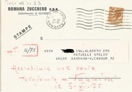 CART. COM.: ROMANA ZUCCHERO S.P.A. STABILIMENTO DI CLASSE  (1506) - Pubblicitari