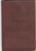 9297-TESSERA BIGLIETTI ABBONAMENTO SETTIMANALE DEL 1946 - Abbonamenti