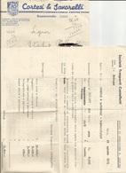 BUSTA INTESTATA E CORRISPONDENZA INTERNA: CORTESI E SAVORELLI ESPORTAZIONE FRUTTA BAGNACAVALLO  (1514) - Vecchi Documenti