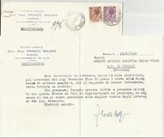 BUSTA INTESTATA E CORRISPONDENZA: DA STUDIO LEGALE F. MALDINI RAVENNA AD AZIENDA AGRICOLA DALLA TORRE RAVENNA   (1517) - Vecchi Documenti