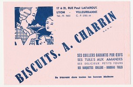 Buvard 20.8 X 13.3 Biscuiterie A. CHARRIN 69 Villeurbanne Cuillers Tuiles Petits Fours Boudoirs - Süssigkeiten & Kuchen