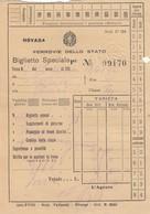 9301-BIGLIETTO SPECIALE 3° CLASSE -1941 - Treni