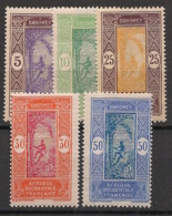 Dahomey - 1922 - N°Yv. 61 à 65 - Série Complète - Neuf Luxe ** / MNH / Postfrisch - Dahomey (1899-1944)