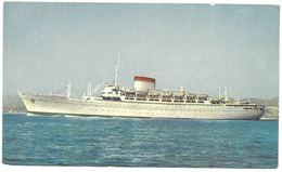 CPSM Paquebot Mn. AUGUSTUS - Mn. GIULIO CASARE - Societa Di Navigazione - Genova - Dampfer