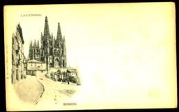 BURGOS - 2 : La Catedral - (plan Animé) - RARE Carte Illustrée Précurseur D'Espagne (vers 1898-1900) - Burgos