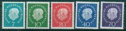 Berlin 1959 / MiNr.  182 - 186  ** / MNH   (r793) - Ongebruikt