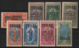 Tchad - 1925-28 - N°Yv. 37 à 44 - Série Complète - Neuf Luxe ** / MNH / Postfrisch - Tchad (1922-1936)