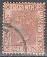 STRAITS SETTLEMENTS   SCOTT NO.  56     USED      YEAR  1882   WMK 2 - Straits Settlements