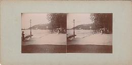 PHOTO STEREO 30 AOUT 1900 NEVERS INONDATION AU QUAI DE L ABATTOIR - Fotos Estereoscópicas