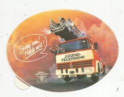 Autocollant , Grand Modéle , 160 X 115 Mm ,pompiers , Camion, Allemagne ,JUGEND-FEUERWEHR.,frais Fr 2.00 E - Autocollants