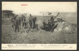FRANCE- 1914 /1915--EN CHAMPAGNE - Un Terrain D'atterrissage Pour Une Escadrille D'aviation - Ay En Champagne