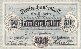 Billet Autriche - 50 Heller - Landesrat  1920 - Oesterreich
