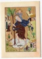 PRIERE GLORIEUX MARTYR SAINT CHRISTOPHE  LITHOGRAPHIE D UNE IMAGE DATEE DE 1423 - Images Religieuses