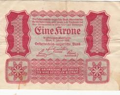 Billet Autriche - 1 Krone 1922 - Oesterreich