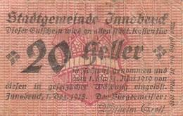 Billet Autriche - 20 Heller - Innsbruck 1919 - Oesterreich
