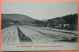 CARTE GERARDMER - 88 - BLANCHISSAGE SUR PRE RAMBERCHAMP -SCAN RECTO/VERSO-10 - Gerardmer