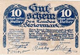 Billet Autriche - 10 Heller - Landeskasse Steiermark 1919 - Oesterreich