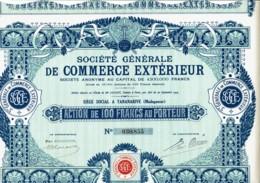 MADAGASCAR-COMMERCE EXTERIEUR.Sté Gle De...TANANARIVE DECO - Hist. Wertpapiere - Nonvaleurs