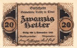 Billet Autriche - 20 Heller - Reith In Tirol 1920 - Oesterreich