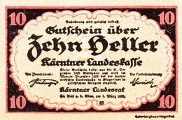 Billet Autriche - 10 Heller - Kärntner Landeskasse 1920 - Oesterreich