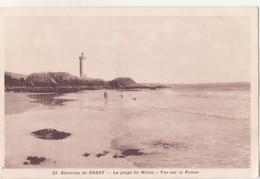 CPA - 29. Env De BREST - La Plage Du Minou, Vue Sur La Pointe - Brest