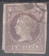 SPAIN     SCOTT NO. 54    USED      YEAR  1860 - 1850-68 Königreich: Isabella II.