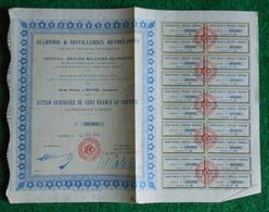 Action Ordinaire De Cent Francs Au Porteur - Sucreries Et Distilleries Rethéloises à Rethel - Textile