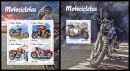 S. TOME & PRINCIPE 2019 - Motorcycles. M/S + S/S Official Issue - São Tomé Und Príncipe