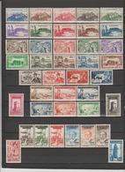 40 TIMBRES FEZZAN NEUFS** & * DE 1946-1949 à 1951  Cote : 124 € - Timbres