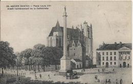 Carte Postale Ancienne De Nantes La Place Louis XVI Avant L'achevement De La Cathedrale - Nantes
