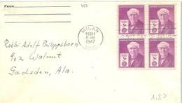 FDC USA 1947   THOMAS EDISON - Celebridades