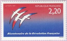 N° Yvert & Tellier 2560 - Timbre De France (Année 1989) - MNH - Bicentenaire Révolution - Logitype De J.M. Folon - Frankreich