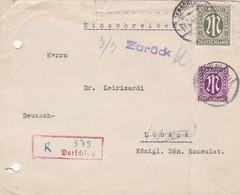 Brief Aus Derschlag 1946 - Bizone